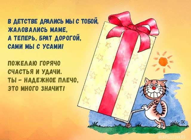 Поздравления брату от сестры с днем рождения