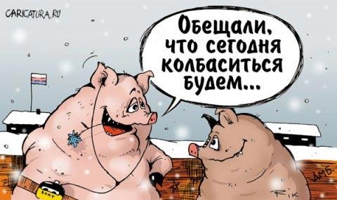 обещали что сегодня будем колбаситься свиньи